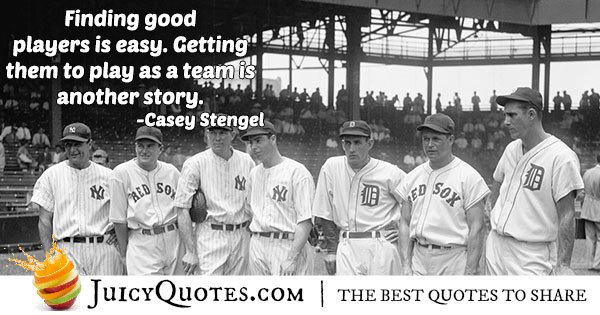 Baseball Player Teamwork Quote