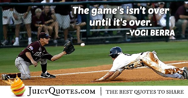 The Game Is Not Over Quote