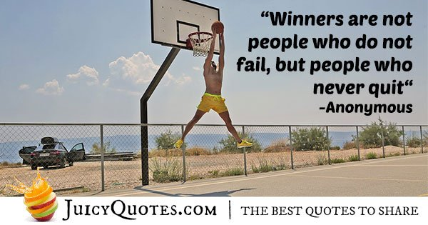 Winners Never Quit Quote