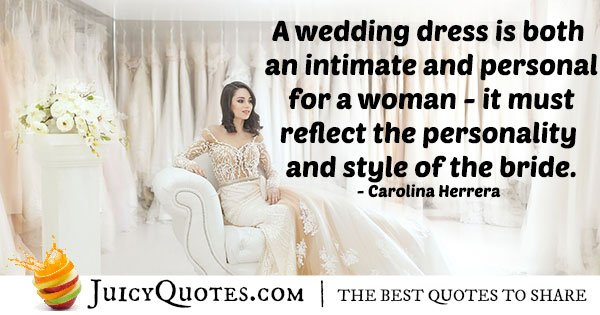 Bride Wedding Dress Quote