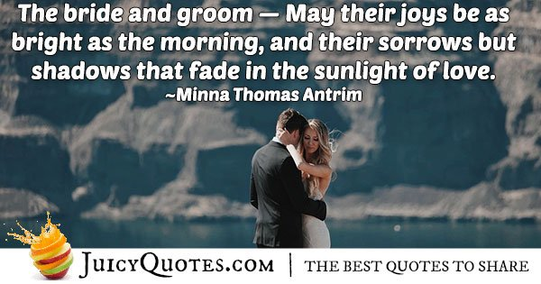 The Bride and Groom Quote
