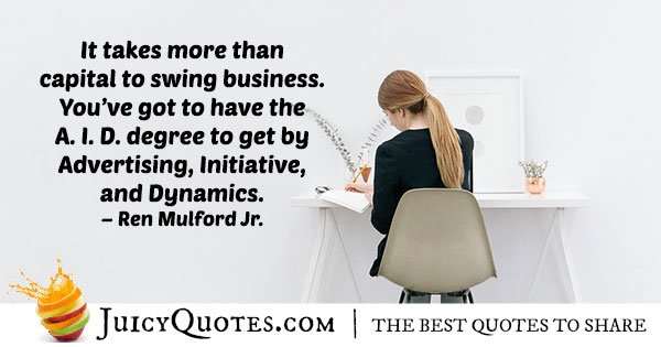 Capital and Business Quote
