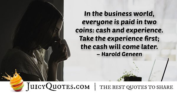 Business Experience Quote