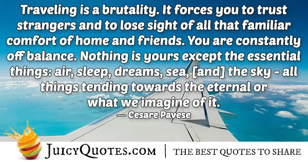 Traveling Quote