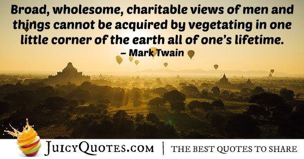Travel Quote - Mark Twain - (With Picture)