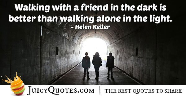 Walking Alone Quote