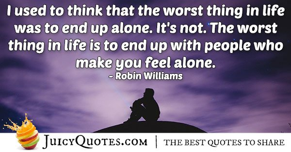 Ending Up Alone Quote