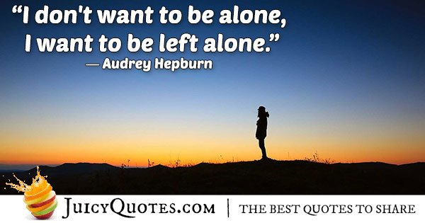 Left Alone Quote
