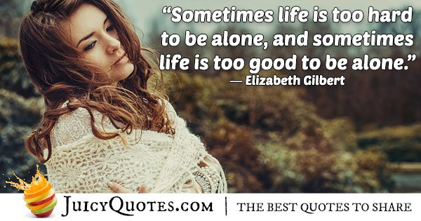 Quote About Being Alone With Picture