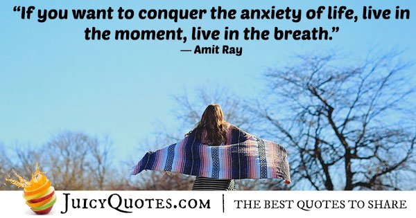 Conquer Anxiety Quote
