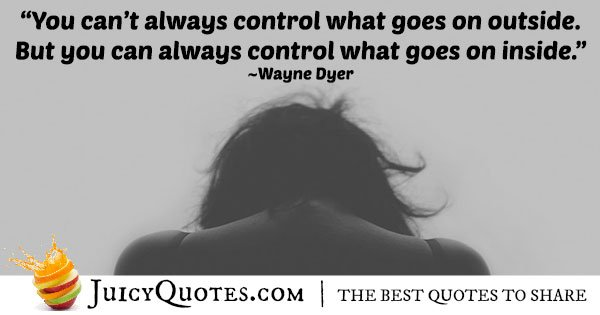 Control and Anxiety Quote