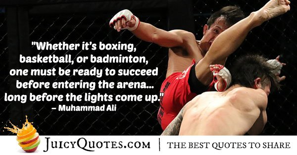 Boxing Success Quote