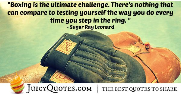 Boxing Is Challenging Quote