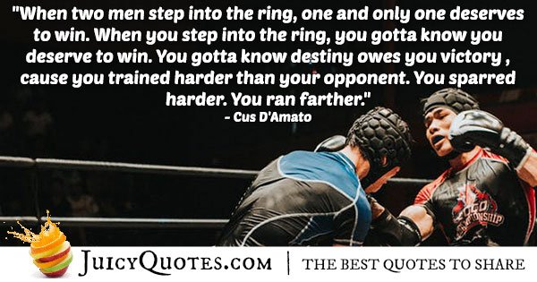 Boxing Ring Quote