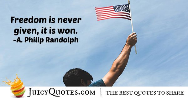 Freedom and 4th of July Quote
