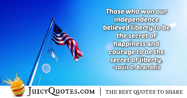 4th of July Happiness Quote