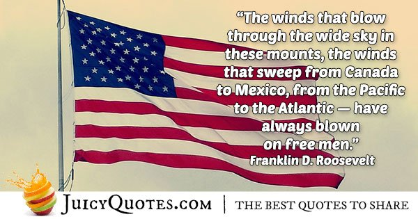 Franklin Roosevelt 4th of July Quote