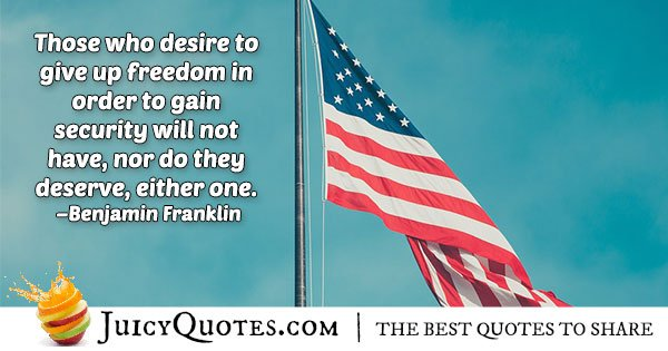 Fourth Of July Quote About Freedom With Picture