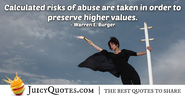 Abuse and Values Quote