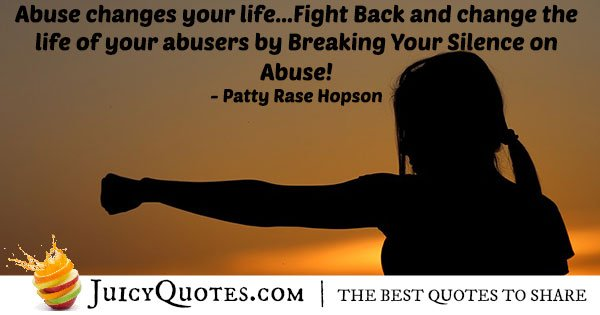 Fight Abuse Quote With Picture Inspiration Abuse Quotes