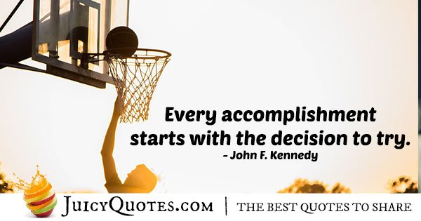 Accomplishments and Decisions Quote