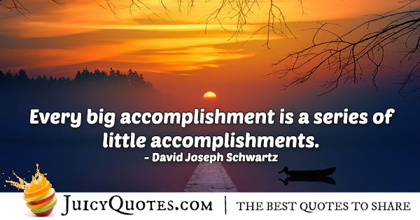 Little and Big Accomplishments Quote