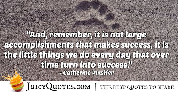 Accomplishments and Success Quote