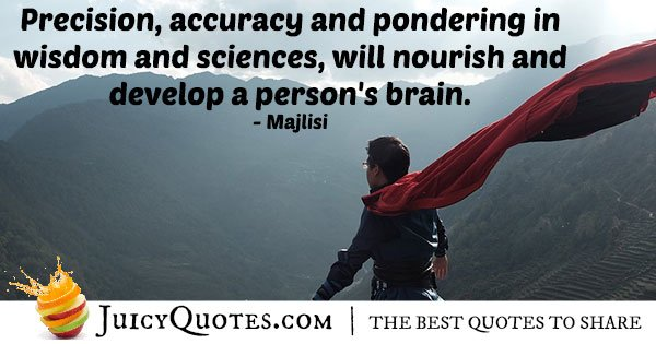 Precision and Accuracy Quote