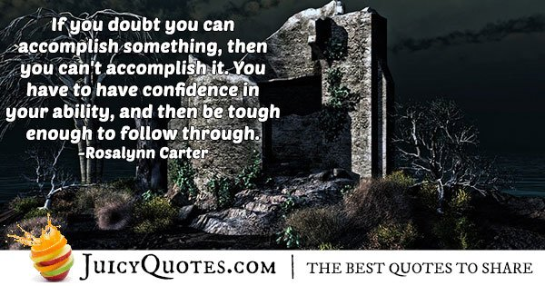 Doubting Abilities Quotes