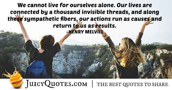 Living and Altruism Quote