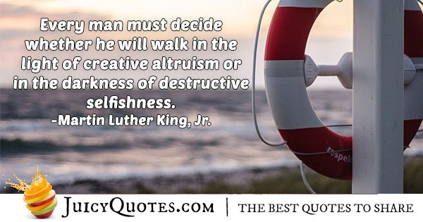 Altruism and Selfishness Quote