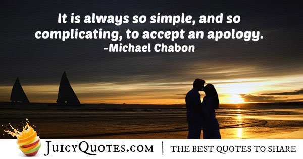 Accepting an Apology Quote