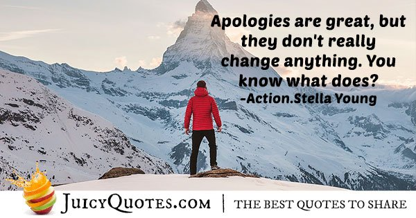 Quote About Apologies