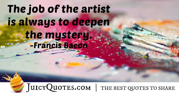 Quote About Artists