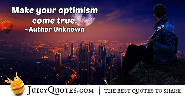 Attitude and Optimism Quote