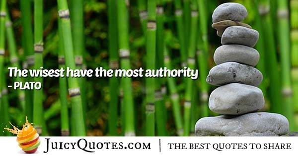 Wisdom and Authority Quote