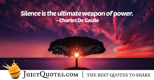 Weapon of Power Quote