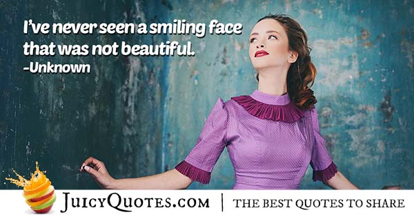 Smiling and Beauty Quote