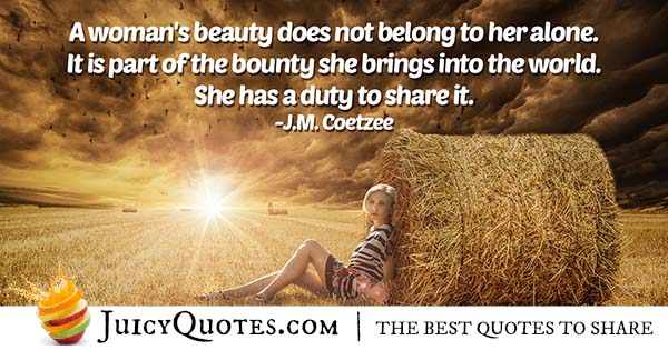 Quote About A Woman's Beauty