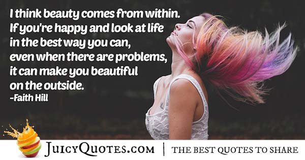 Inside and Outside Beauty Quote