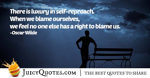 Blaming Ourselves Quote