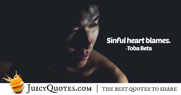 Sinful Heart Blames Quote