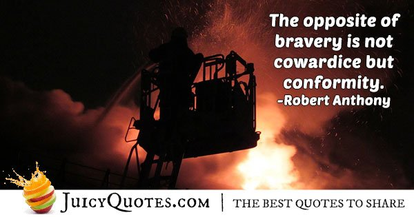 Cowardice and Bravery Quote