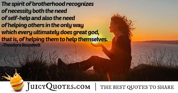 Help and Brotherhood Quote
