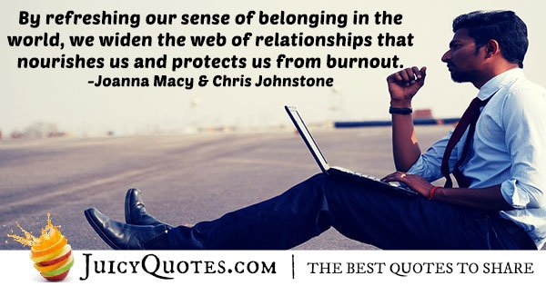 Protection From Burnout Quote