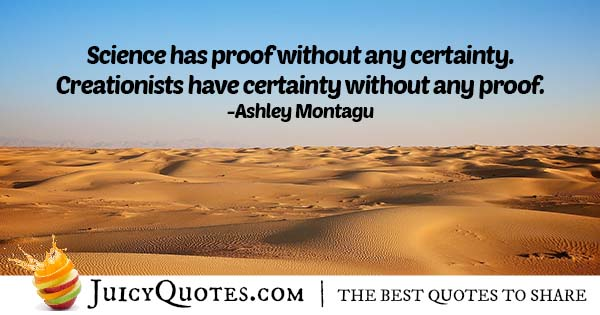 Proof and Certainty Quote