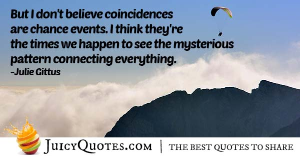 Chance and Coincidences Quote