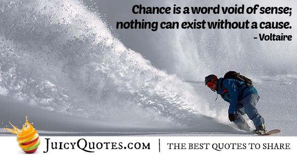 Chance and Cause Quote