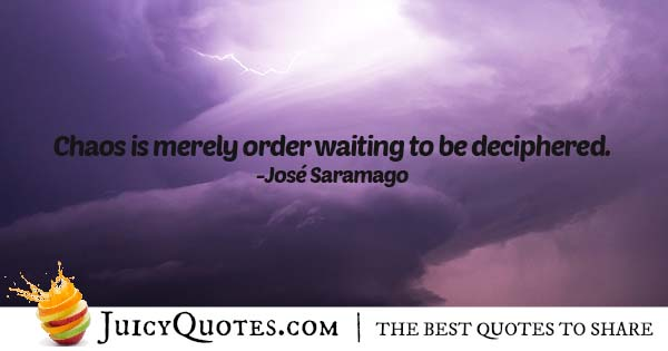 Chaos and Order Quote