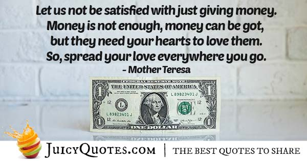 Don't Just Give Money Quote